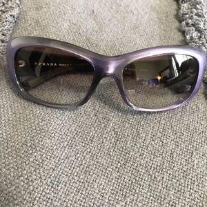 PRADA Purple Frame Dark Lense Sunglasses 135 Italy